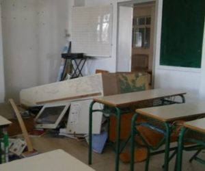 Another attack on a school in Chania where the Albanian language is taught