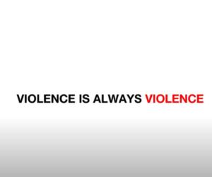 Violence is always violence! Ask for help!